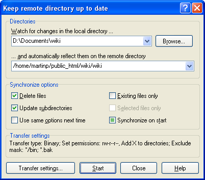 Keep remote directory up to date
