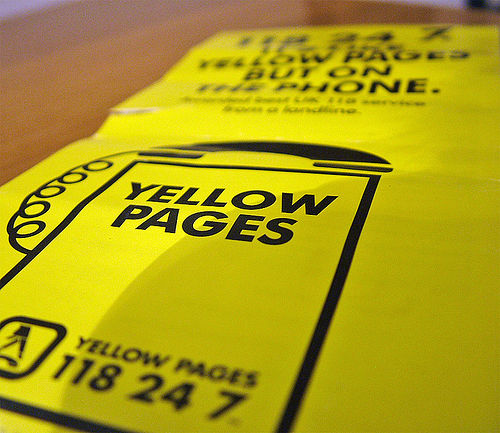 Yellow Pages - CC licensed